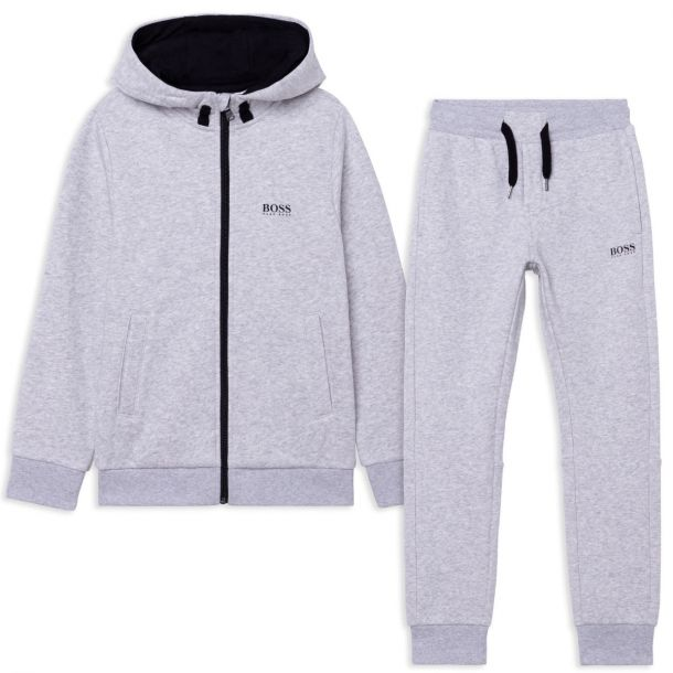 Boys Grey Branded Tracksuit