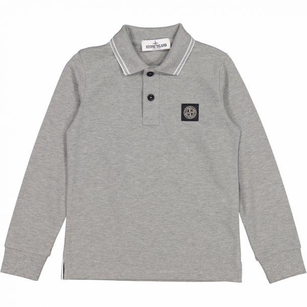 Boys Grey Branded Polo Top