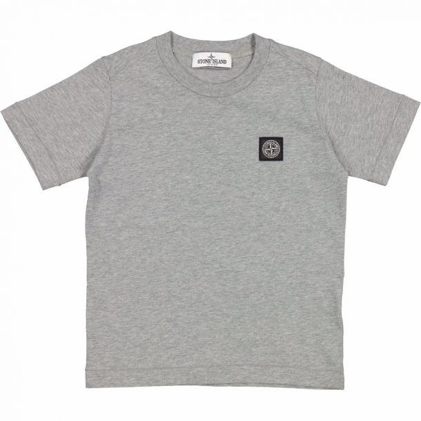 Boys Grey Badge Logo T-shirt