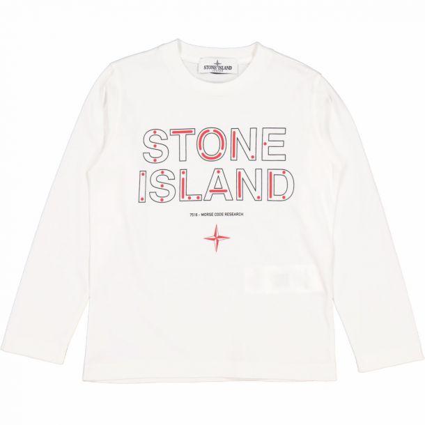 Boys White Branded T-shirt