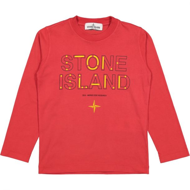 Boys Red Branded T-shirt