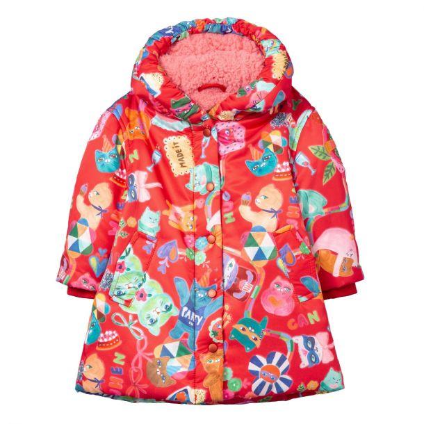 Girls Cakey Red Hug Coat