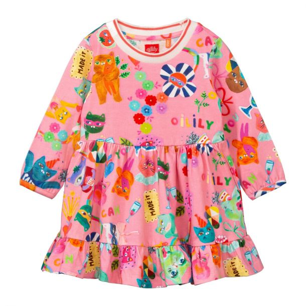 Girls Dartel Pink Jersey Dress