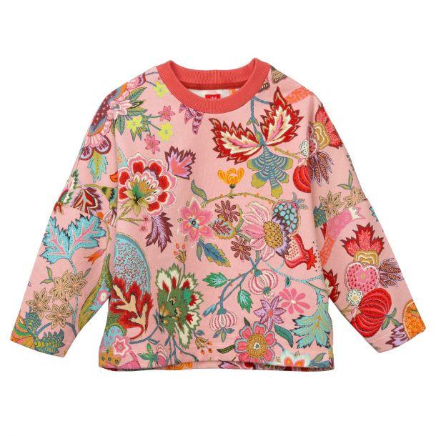 Girls Hark Pink Floral Sweat