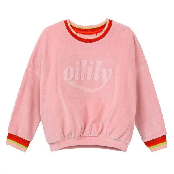 Girls Hoft Pink Velour Sweat