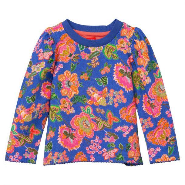 Girls Tuin Blue Flower T-shirt