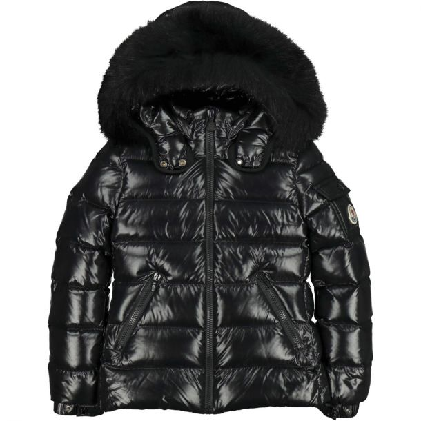 Girls Black Bady Fur Jacket