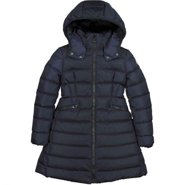 Girls Navy Charpal Coat