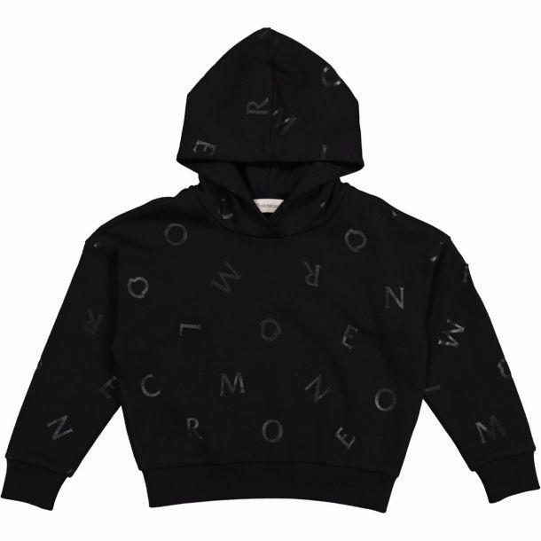 Girls Black Logo Sweatshirt