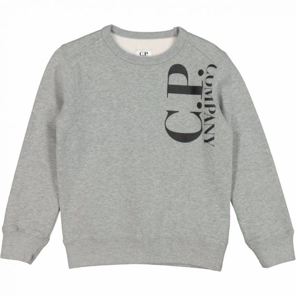 Boys Grey Logo Sweat