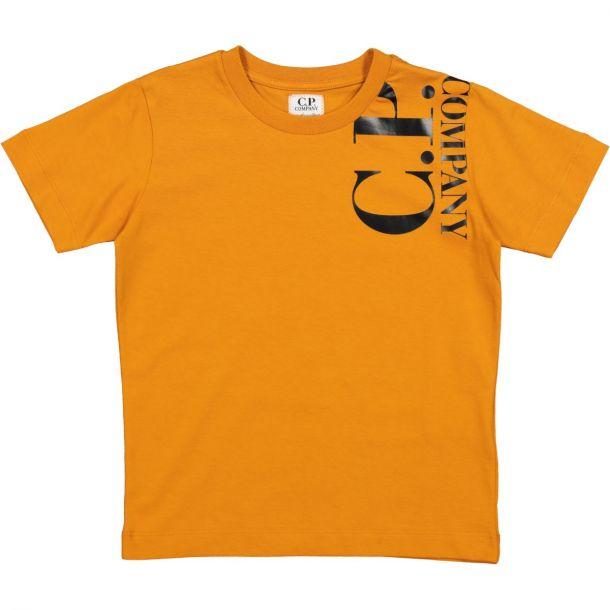 Boys Orange Logo T-shirt