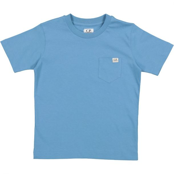 Boys Blue Pocket Logo T-shirt