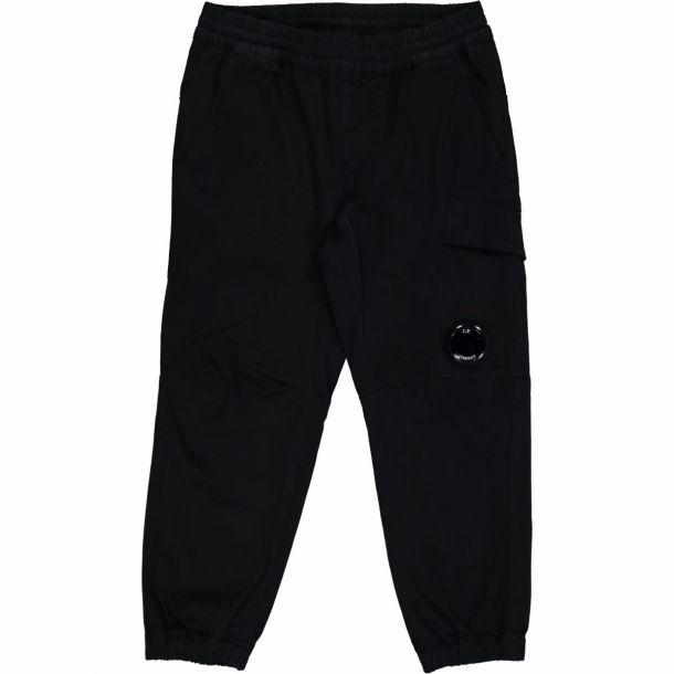 Boys Black Porthole Cargo Pant