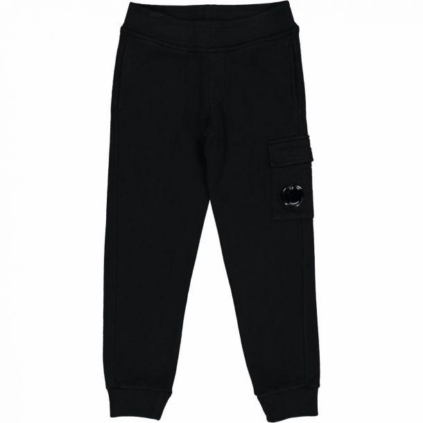 Boys Black Porthole Sweat Pant