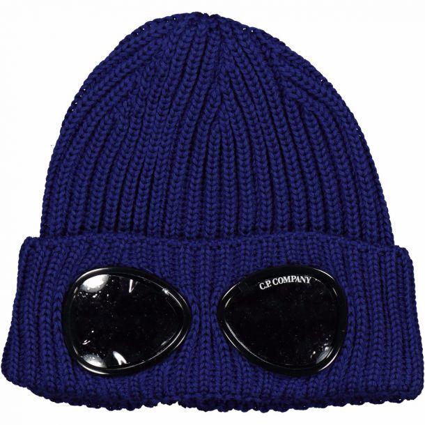 Boys Blue Goggle Beanie Hat