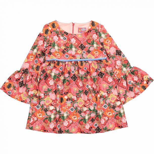Girls Annes Floral Tea Dress