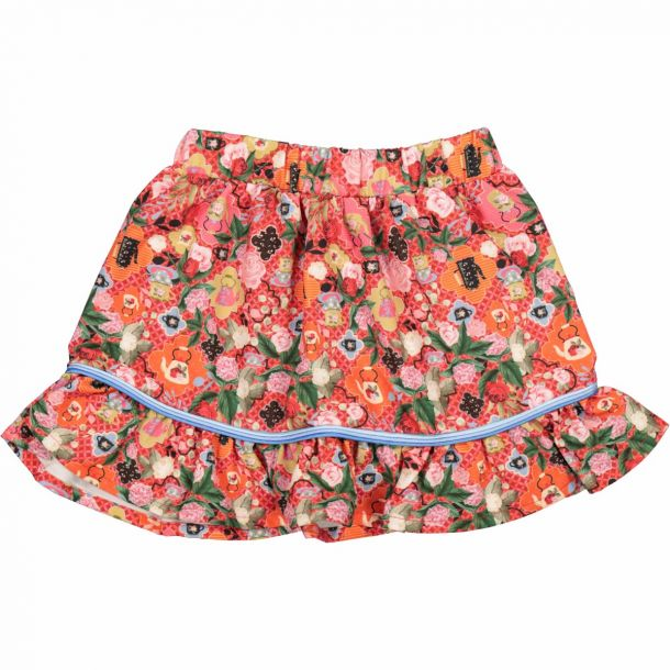 Girls Annes Floral Tea Skirt