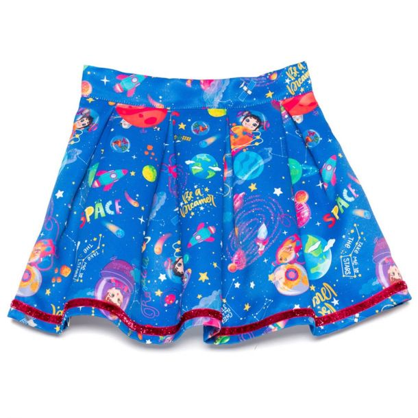 Girls Arbon Space Print Skirt