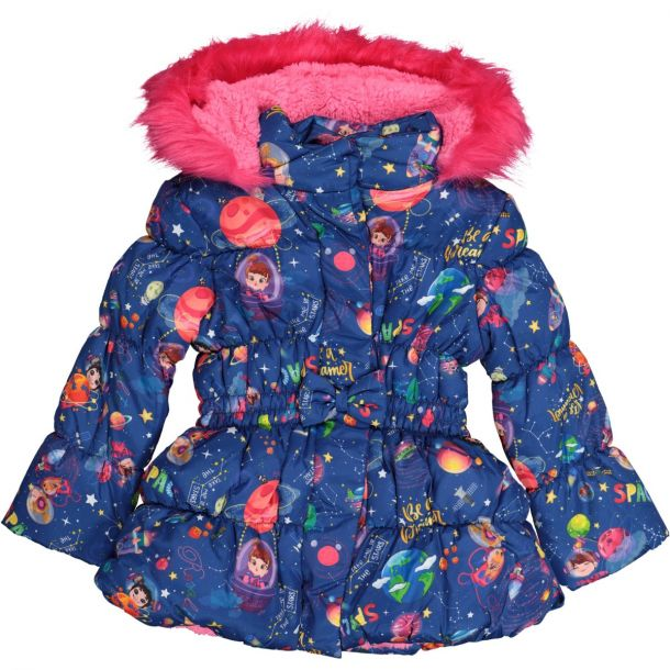 Girls Arbon Space Print Coat