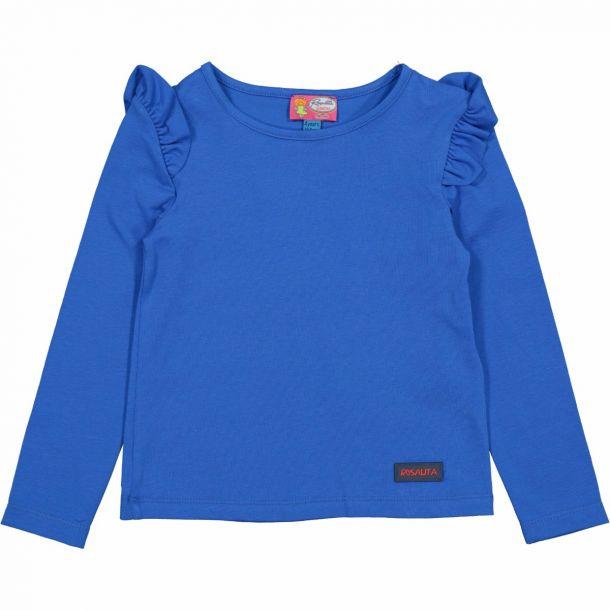 Girls Downey Blue Frill Tshirt