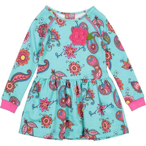 Girls Avery Blue Dress