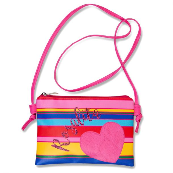 Girls Rexburg Stripe Heart Bag