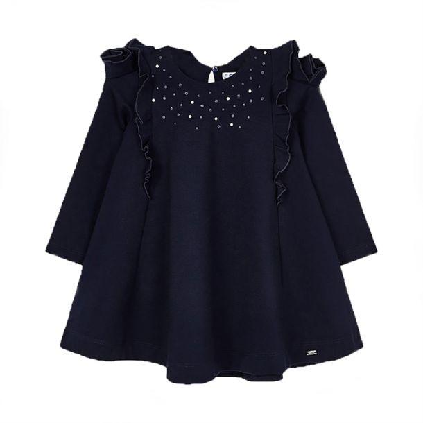 Girls Navy Sparkle Swing Dress