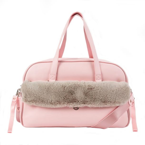 Baby Pink Faux Fur Change Bag
