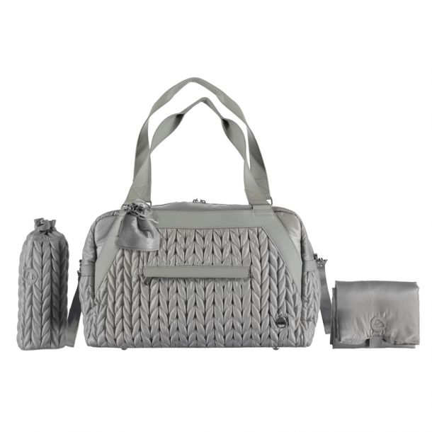 Baby Grey Quilted Changing Bag