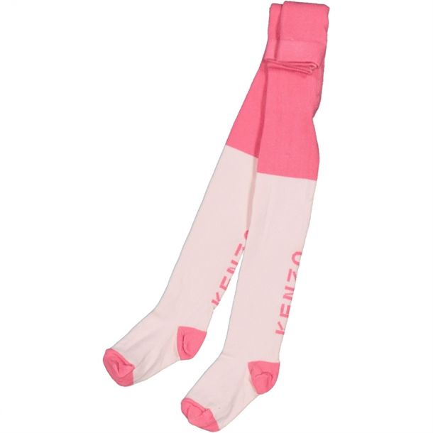 Baby Girls Pink Logo Tights