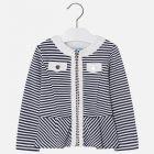 Girls Navy Zip Up Jacket