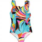 Girls Pucci Print Swimsuit
