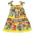 Girls Petitot Print Dress