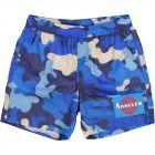 Boys Blue Camo Swim Shorts