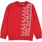 Boys Red Logo Sweat